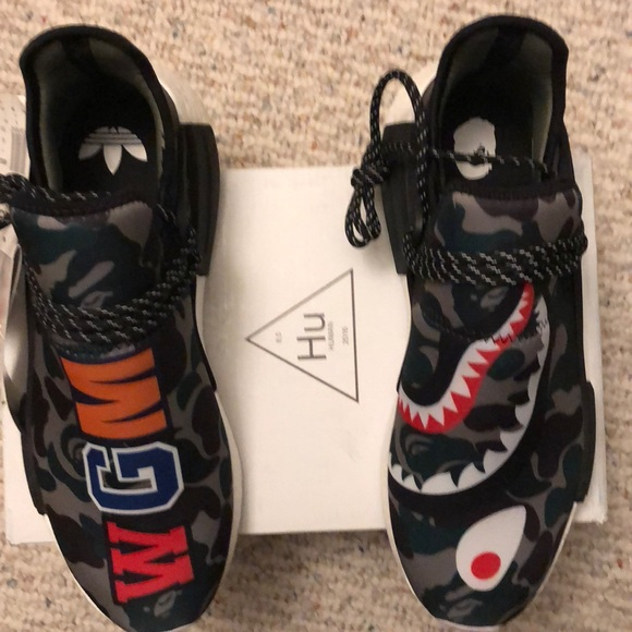 cheaper 9302e 093d7 Pharrell Williams Human Race X Bape Nmd Shoe NWT